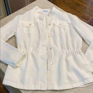 J Mc Laughlin Linen Jacket Sz M